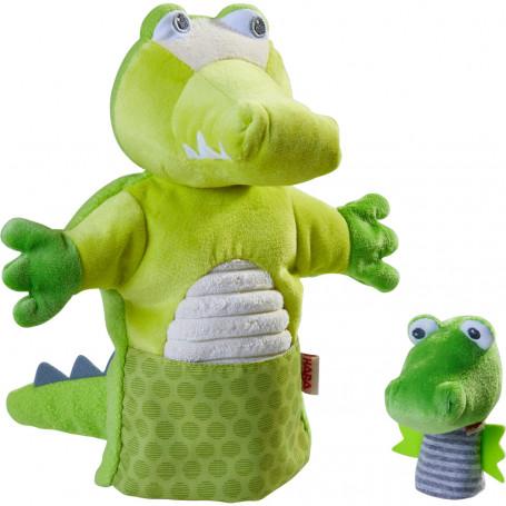 Marionnette Crocodile et son bébé - Haba