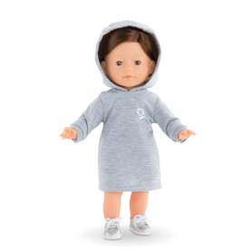 """Hoodie dress for ma Corolle doll 14"""""""