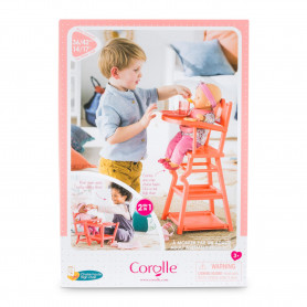Coral high chair - For dolls up to 17""