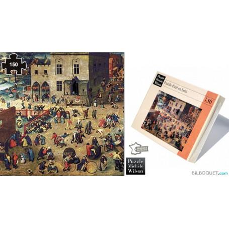 Jeux d'enfants (Pieter Bruegel) Puzzle en bois
