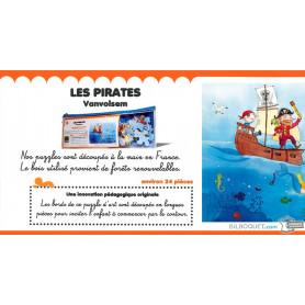 Puzzle d'art en bois Les pirates (Emilie Vanvolsem)