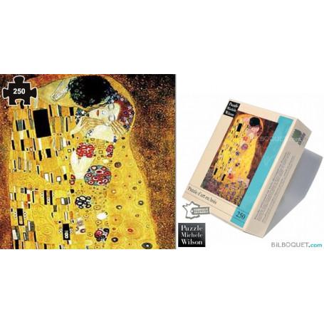 Le baiser (Gustav Klimt) Puzzle en bois pour adultes