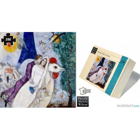Les Mariés de la Tour Eiffel (Chagall) Puzzle en bois pour adultes