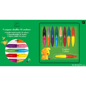 8 crayons doubles
