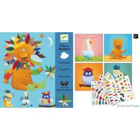 Créer avec des stickers - Créer des animaux Design by Sébastien Chebret