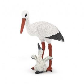 Cigogne et son bébé - Figurine Papo