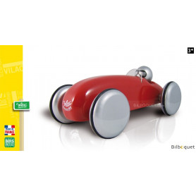 Voiture Speedster en bois massif laqué - Rouge