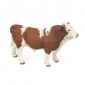 Taureau simmental (brun/blanc) - Figurine Papo
