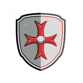 Bouclier Chevalier Croix de Malte en mousse - Papo