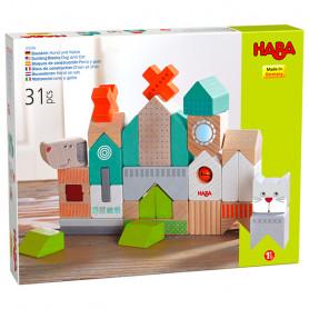 Building Blocks Dog and Cat - Haba