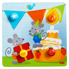 Clutching Puzzle Birthday Mice - Haba