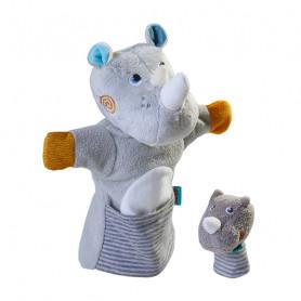 Marionnette Rhinocéros et son bébé - Haba