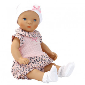 """Bibichou doll 35cm """"Mia"""" with its little bed"""