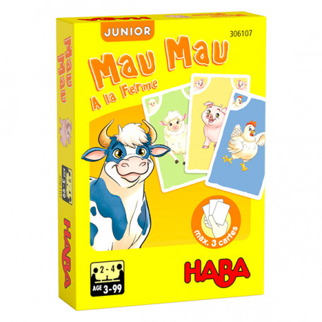 Jeu de cartes Mau Mau junior À la ferme