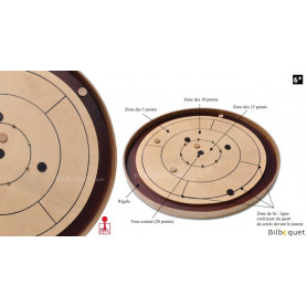 Crokinole 78 - Jeu tactique et d'adresse en bois