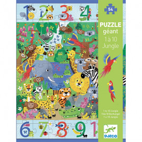 1 to 10 Jungle - Giant Puzzle 54 pieces