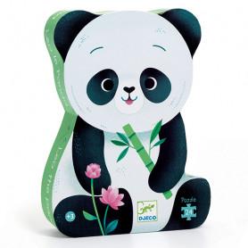 Leo the panda - 24 piece silhouette puzzle