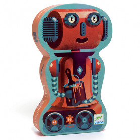 Bob the robot - 36 piece silhouette puzzle