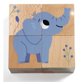 Wild & Co - 4 piece wooden puzzle cube
