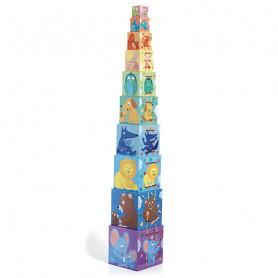 Rainbow pyramid cubes