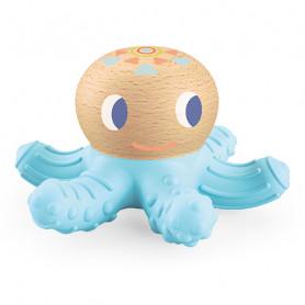 Anneau de dentition BabySquidi Pieuvre bleue - Baby Blanc