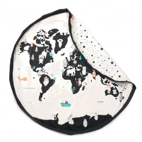 Worldmap/Stars Toy Storage Bag