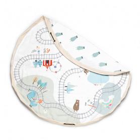 Trainmap/Bears Toy Storage Bag