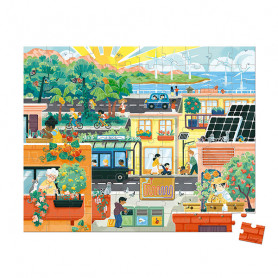 Puzzle Ville Verte - 100 pièces - Partenariat WWF