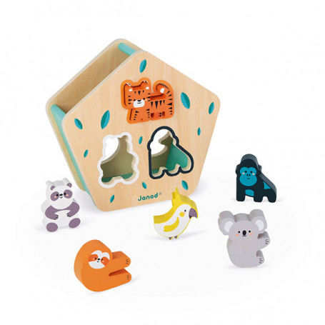 Animal Shapes Wooden Sorting Box - In Partnership with WWF