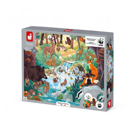 Puzzle Les Empreintes - 81 pièces - Partenariat WWF