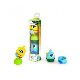 Tube 2 animaux de la forêt + 1 perle – Assortiment oiseau bleu