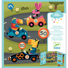 Repositionable stickers Cars - Small gifts