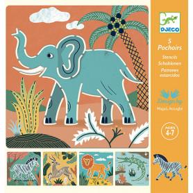 Stencils Wild animals - Small gifts
