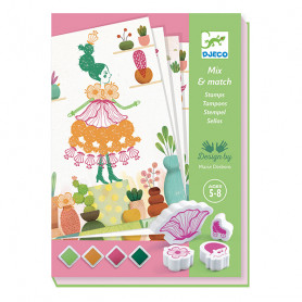 Flowers Girls Stamps