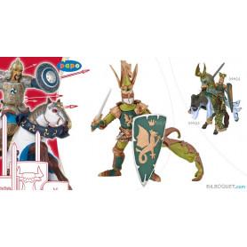 Maître des armes cimier dragon Figurine peinte à la main