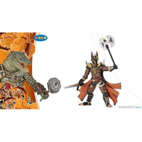 Chevalier triple hache Figurine jouet