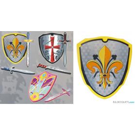 Bouclier Roi de France - Accessoires et déguisements en mousse