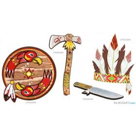 Bouclier d'indien - Déguisements et accessoires en mousse