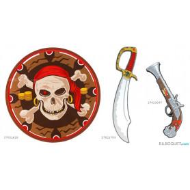 Bouclier de pirate - Déguisements en mousse pour les enfants