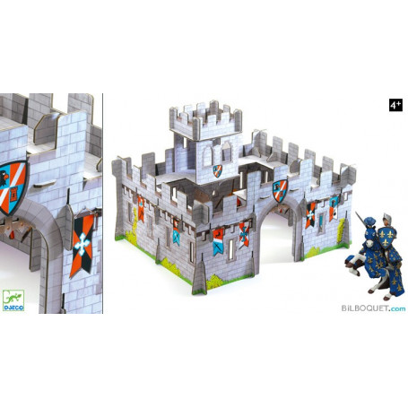 Château médiéval 3D en carton POP'N PLAY