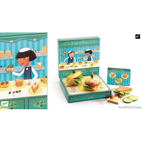 Emile et Olive - Le marchand de sandwich en bois