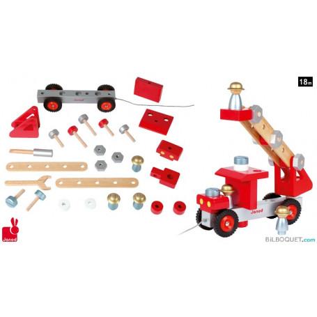 Camion de pompier en bois Bricolo
