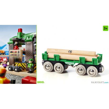 Wagon convoyeur de bois