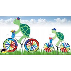 Eolienne d'extérieur Tortue à bicyclette