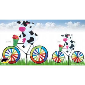 Eolienne Vache à bicyclette Décoration de jardin