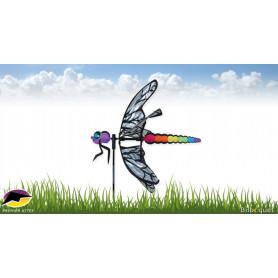 Eolienne libellule 55cm Déco de jardin