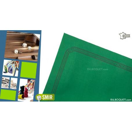 Tapis de cartes feutre vert 77x77cm