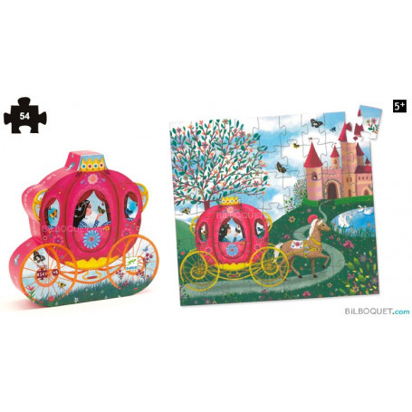 Puzzle silhouette Le carrosse d'Elise 54 pièces