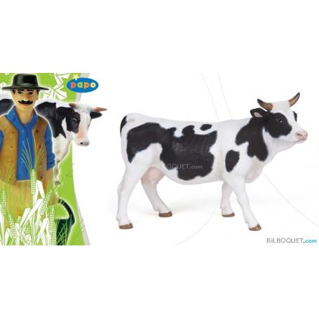 Vache pie noire et blanche