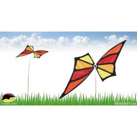 Eolienne décorative sur mât Papillon Monarch